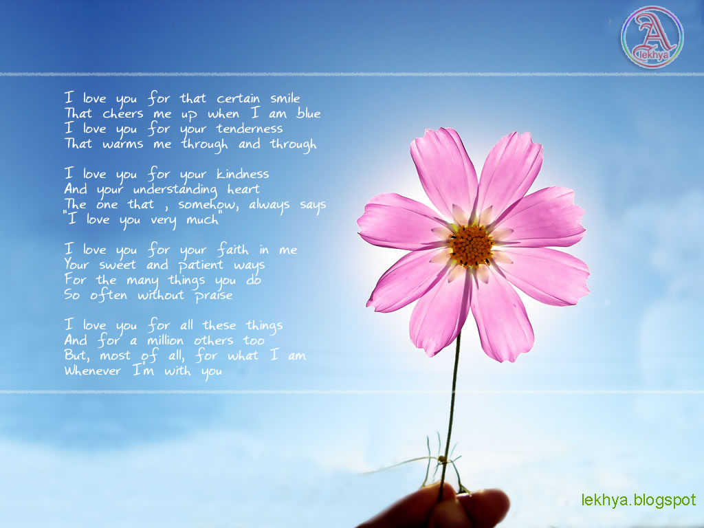 Love Poems For Girlfriend Wallpaper : Wallpaper Desk : I love you poem wallpaper, i love you wallpapersWallpaper Desk
