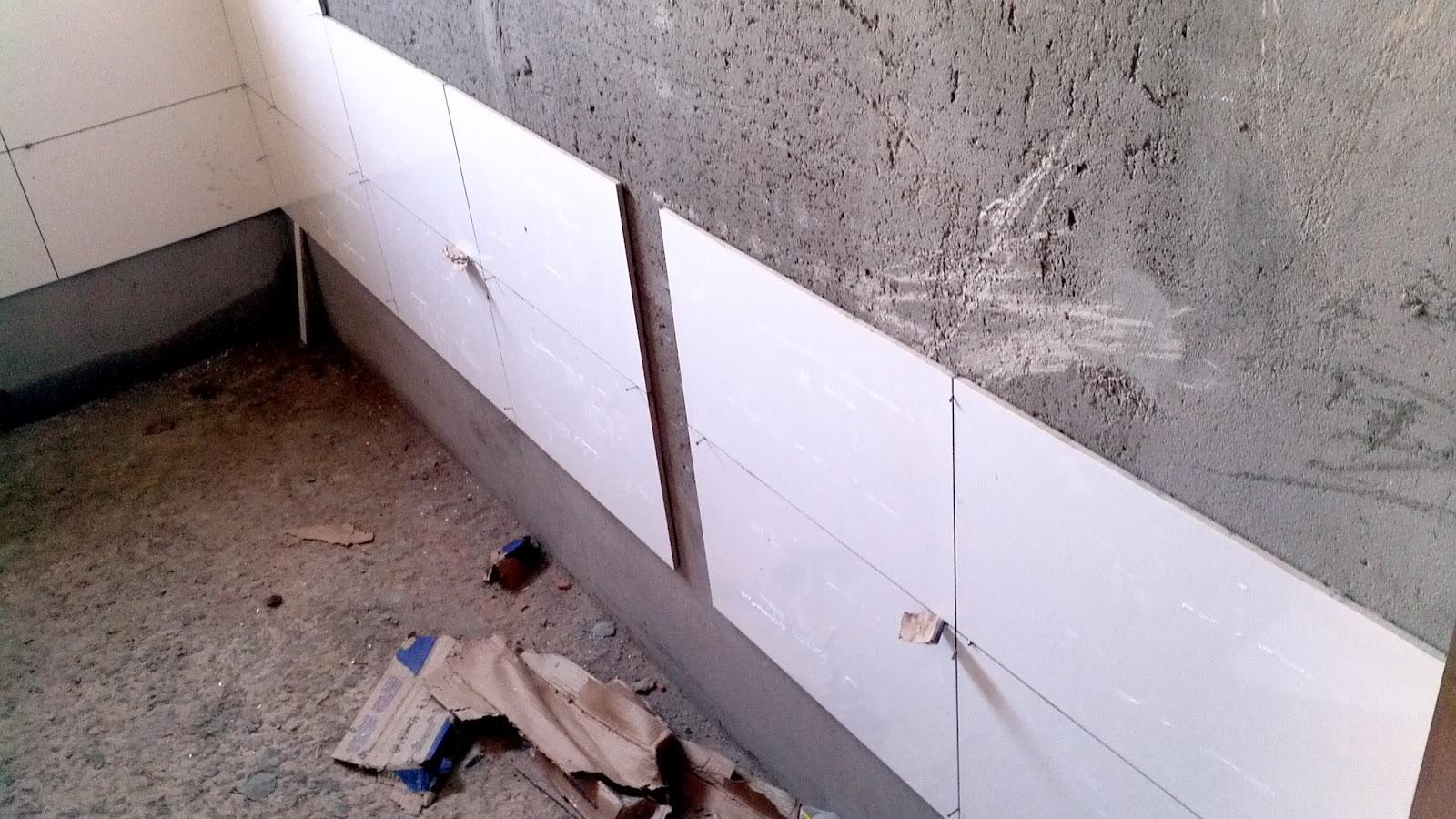 Hoje na parte da manhã o pessoal vai rebocar a última parede (da  #30221E 1600x900 Banheiro De Gesso