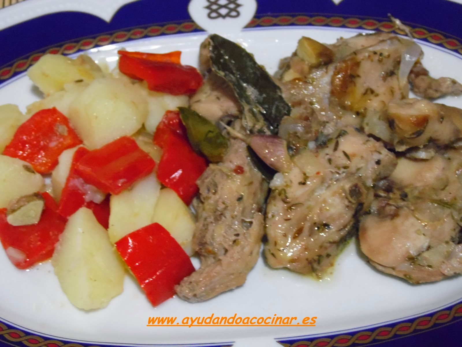 Ayudando a cocinar conejo cocinado en bolsa de horno for Cocinar un conejo