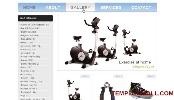 Sport Online Store Jquery Website Template