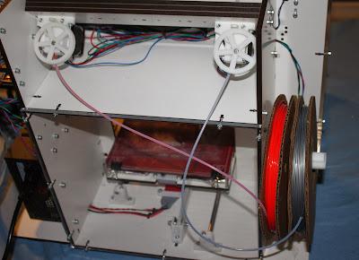 Lasercut Mendel90 Dual Extrusion Filament