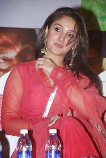 Sridevi Vijaykumar looks stunning in Red Salwar Kameez at Veera Movie Function