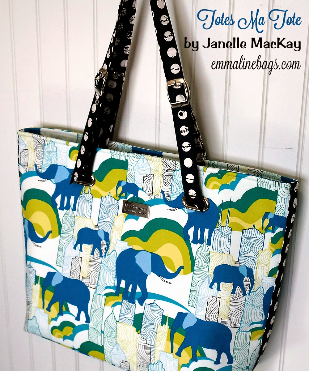 Emmaline bags sewing patterns and purse supplies the totes ma ive been spending the last couple of days working with some of the gorgeous prints from the jungle ave fabric collection that sara lawson from sew jeuxipadfo Image collections