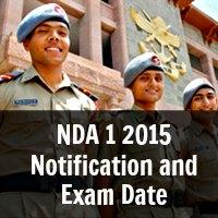 NDA 1 2015 Notification and Exam Date