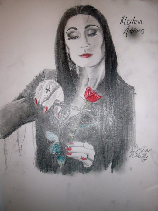 Morticia Addams por Franzybelle