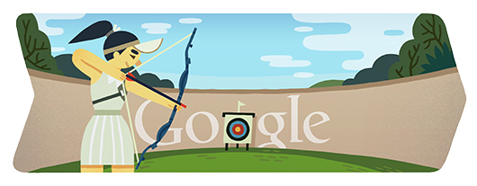 Google Doodles - Olympic Archery 2012