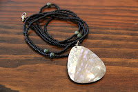 Mother of Pearl Pendant Necklace by hotGlued
