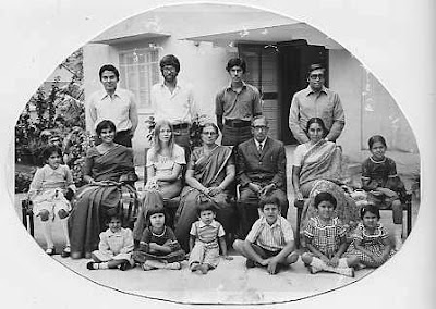 Matthan family in Bangalore in 1976