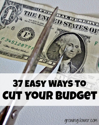 Scissors Cutting Dollar Bill Caption: Easy Ways to Cut Your Budget &amp; Save Money