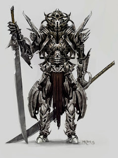 Demon warrior assassin samurai from hell art