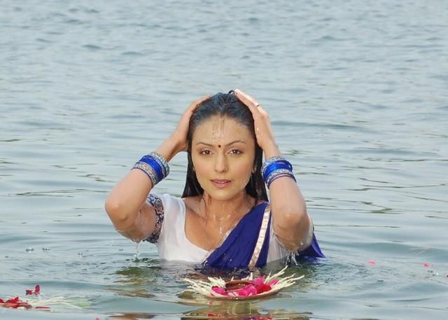 Aarati Chabariya Latest Photos In Blue Saree