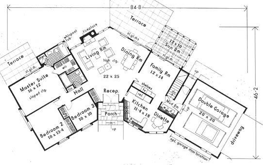 Planos casas modernas planos de casas de una planta con for Planos de casas con medidas