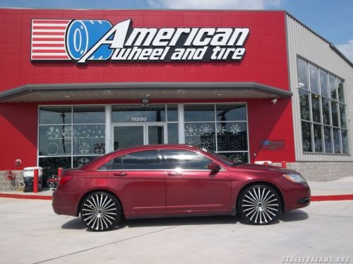 2012 Chrysler 200 On 20 Inch Panther Spline Rims Only
