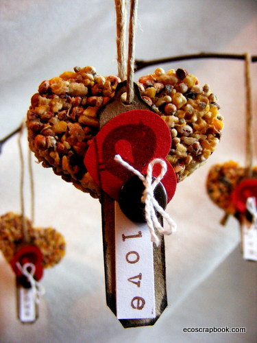 Wedding ideas Hang these birdseed ornaments on branches for wedding