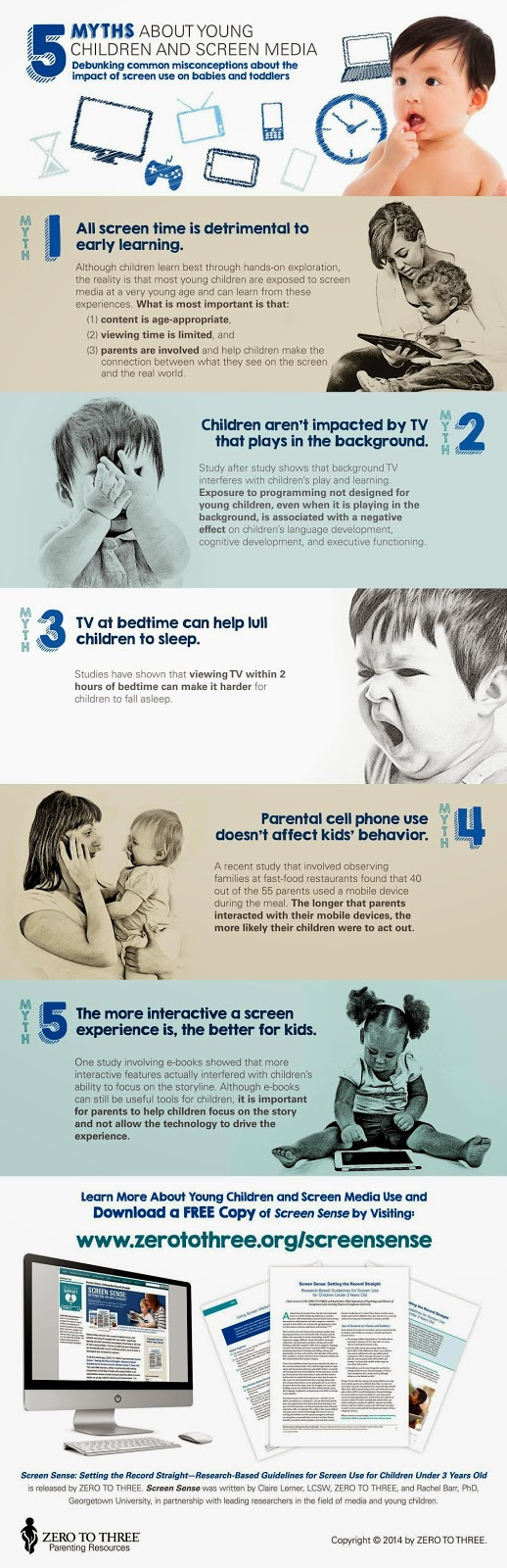 Guidelines for Screen Use for Children Under 3 Years Old.