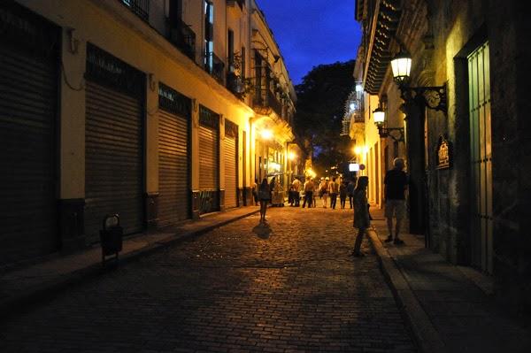 Cuba havana street on nigth
