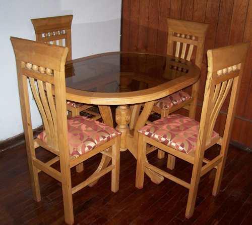 Nuevo estilo s a muebleria y carpinteria for Juego de comedor de vidrio y madera