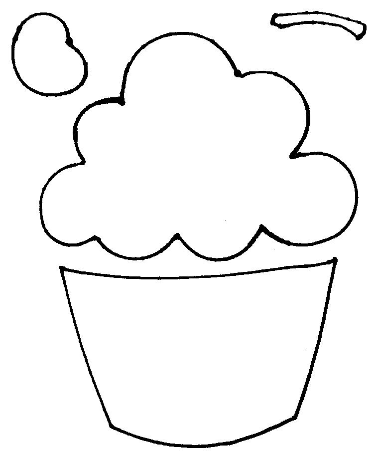 Molde Do Cupcake on Cupcakes Coloring Print Images About Tekenen On