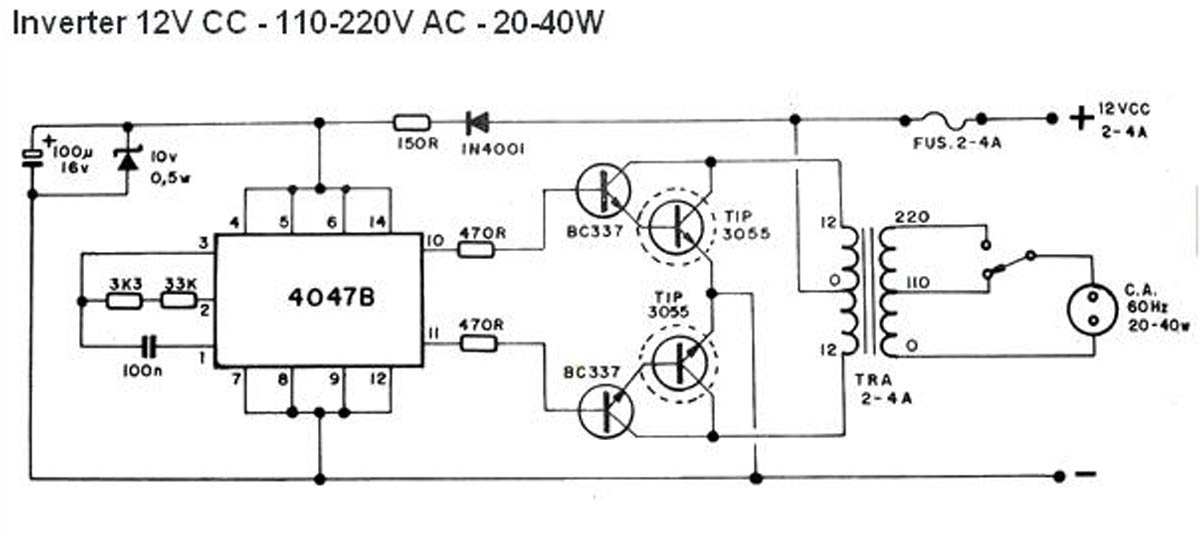 8051 avr pic microcontroller projects how to make an inverter simple 40 watt inverter