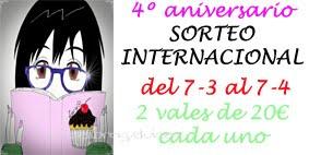 Sorteo internacional por el 4º aniversario ¡Participa!