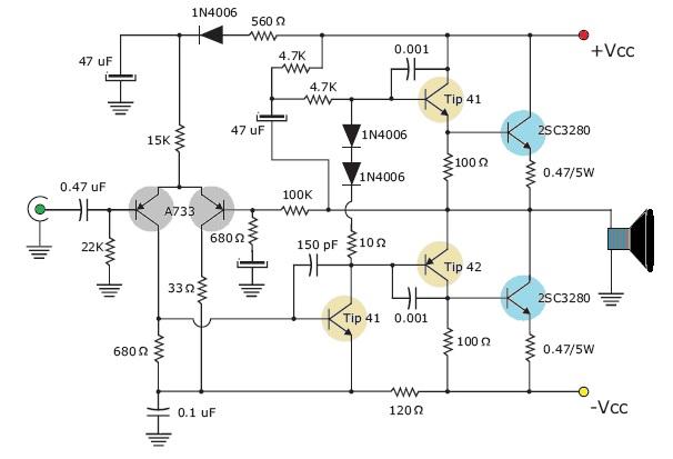 Circuito Amplificador De Audio : Amplificador de audio watt electrotole