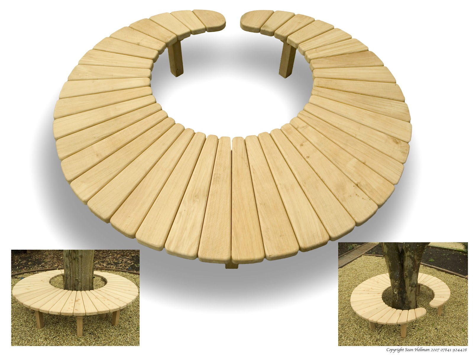 Sean Hellman Circular Bench For Merton College Oxford