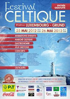 Affiche Festival Celtique Luxembourg 2012 avec Caliorne