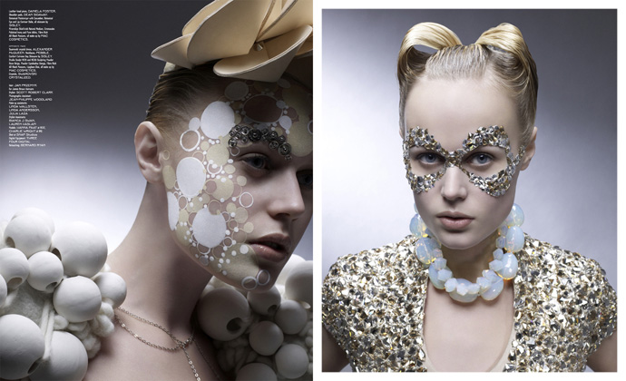 Rachael beauty hair stylist fashion as art for Mac alexander mcqueen