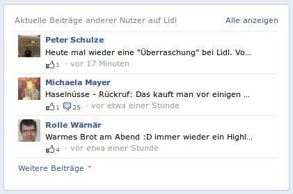 Anklicken, um die Lidl-Fanseite bei Facebook aufzurufen