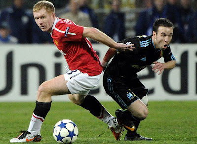 Champions League, Paul Scholes Man Utd, Mathieu Valbuena Marseille