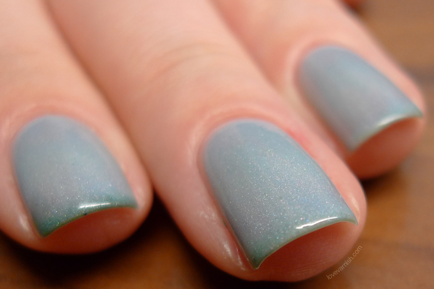 Pretty & Polished Tomboyish teal thermal polish