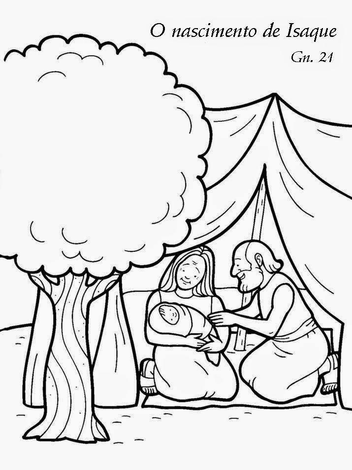 O nascimento de Isaque - desenho para colorir