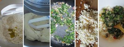 Zubereitung Spinat-Schafkäse-Börek aus der Pfanne