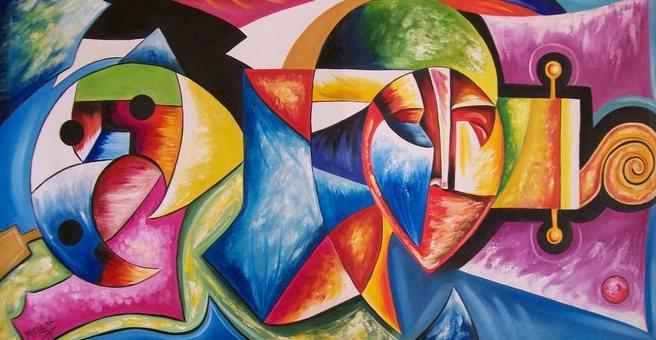 Julio melgar pintor peruano pintura abstracta al oleo for Imagenes de cuadros abstractos con relieve