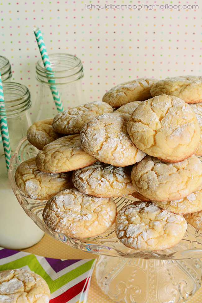 Double Lemon Cake Mix Cookies   Come together in a flash!