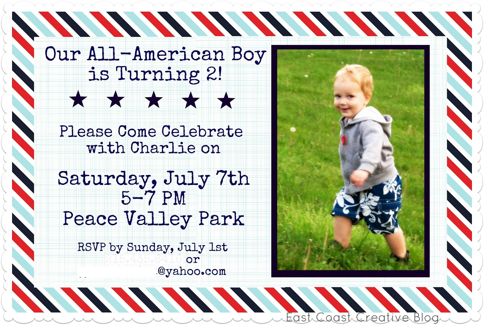 How to scrapbook yahoo - Last Week I Showed You The Birthday Party Invite I Made Using Digital Scrapbook Paper For Charlie S 2nd Birthday You Might Remember That It Looked Like