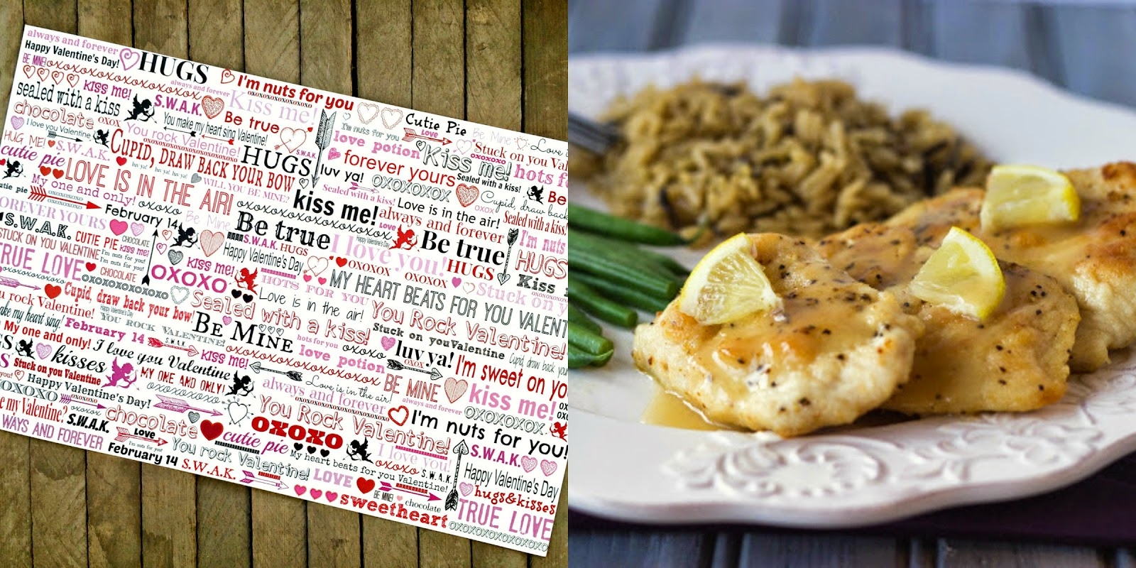 Valentine's Day Table Decor, Outside the box Papers Valentine's Day Placemats, Valentine's Day Dinner Ideas