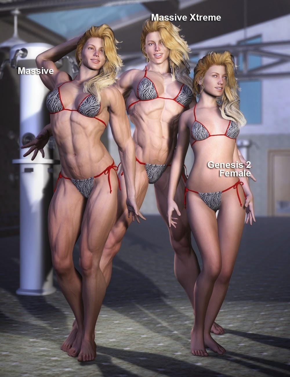 Morphs massive pour Genèse 2 Femme