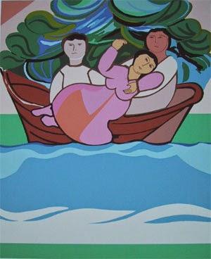 pintura de barco