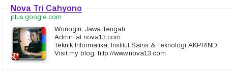 Profile Google+ nova13 di Google Search