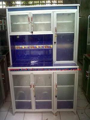 rak piring aluminium 3 pintu
