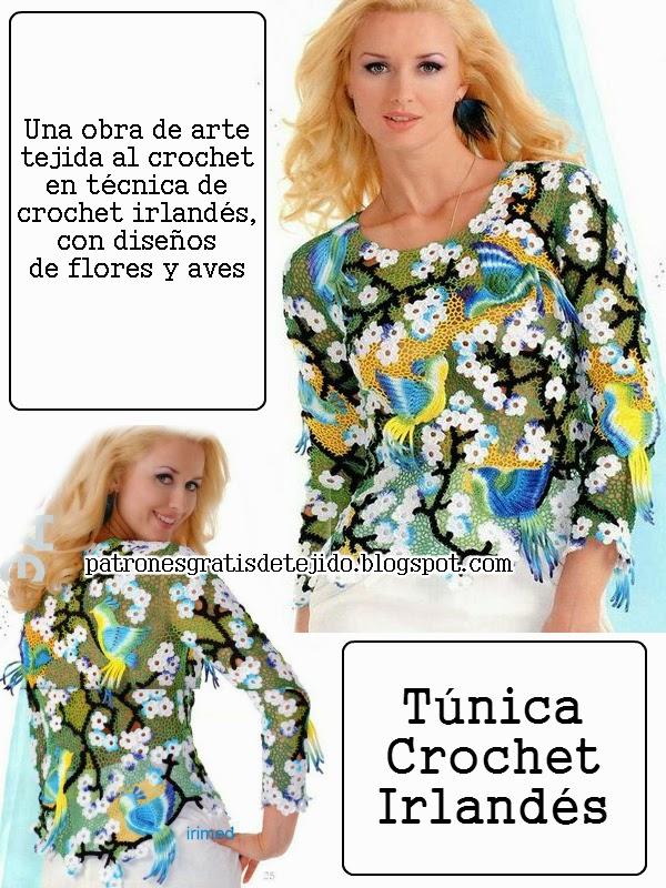 Bellísitma túnica crochet irlandés