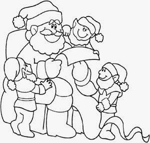 Dibujos de Santa Claus para Pintar, parte 5