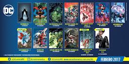 Calendario Febrero 2017 DC Cómics México