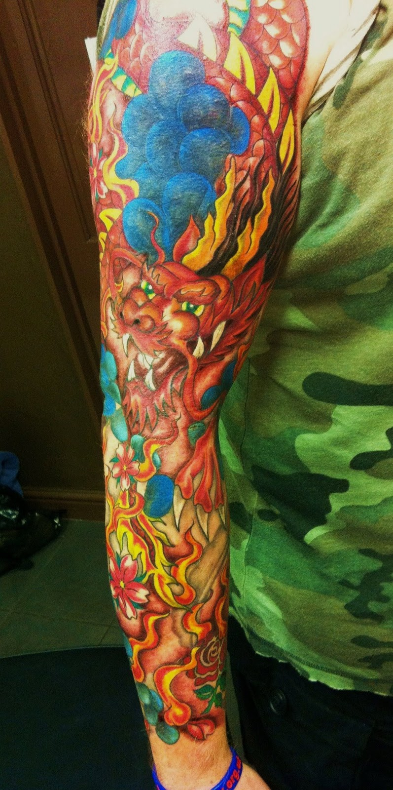 Dragon fire tattoo gallery for Dragon fire tattoos