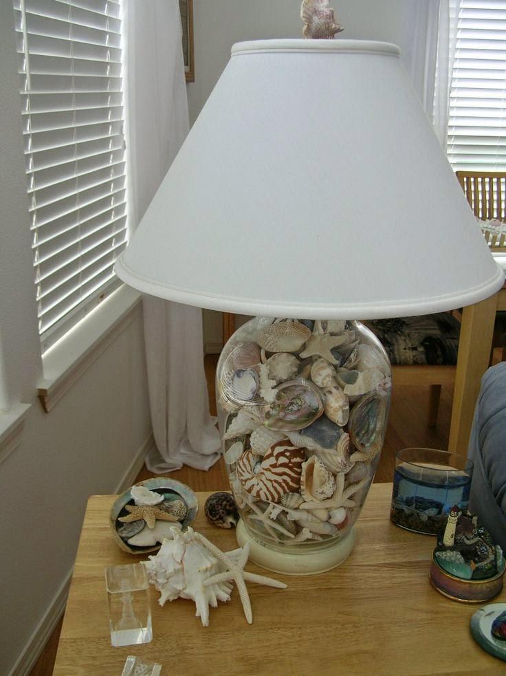 bricolage lampe coquillage