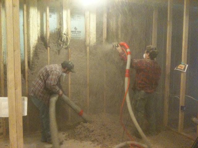 Blown cellulose insulation : Blown cellulose insulation passive house insulaton