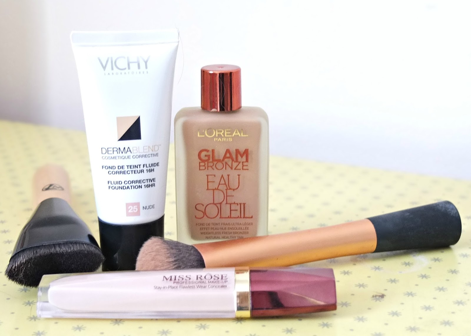 Covering acne and blemishes