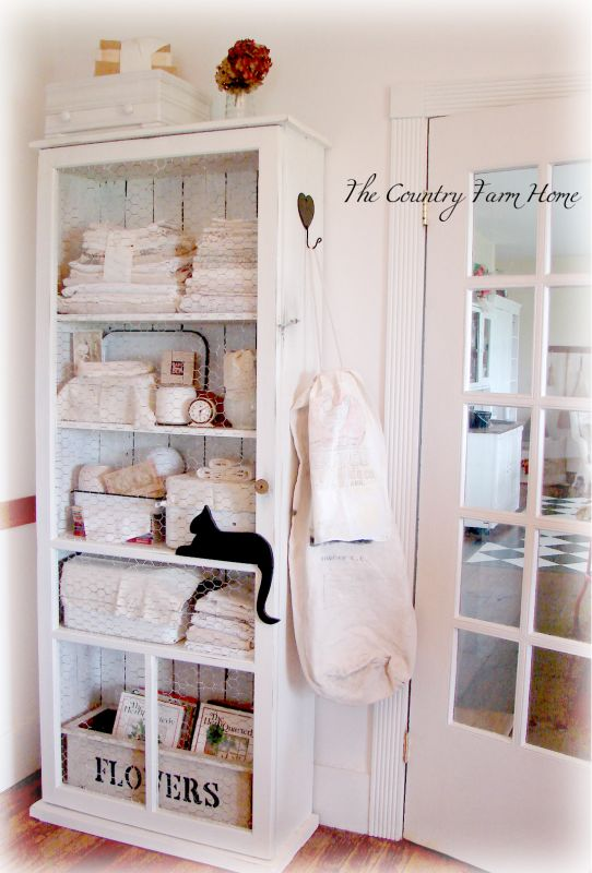 The Country Farm Home: Thrifty Cupboard from a Screen Door, Chicken ...