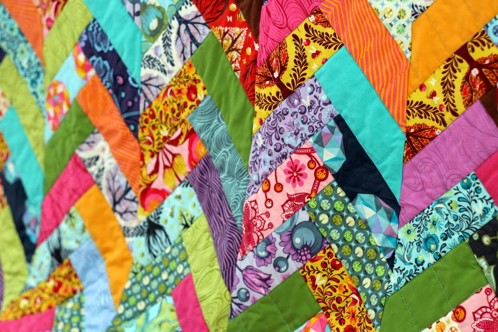 Because I'm Me girls small quilt, chevron, bright colors, floral, trees